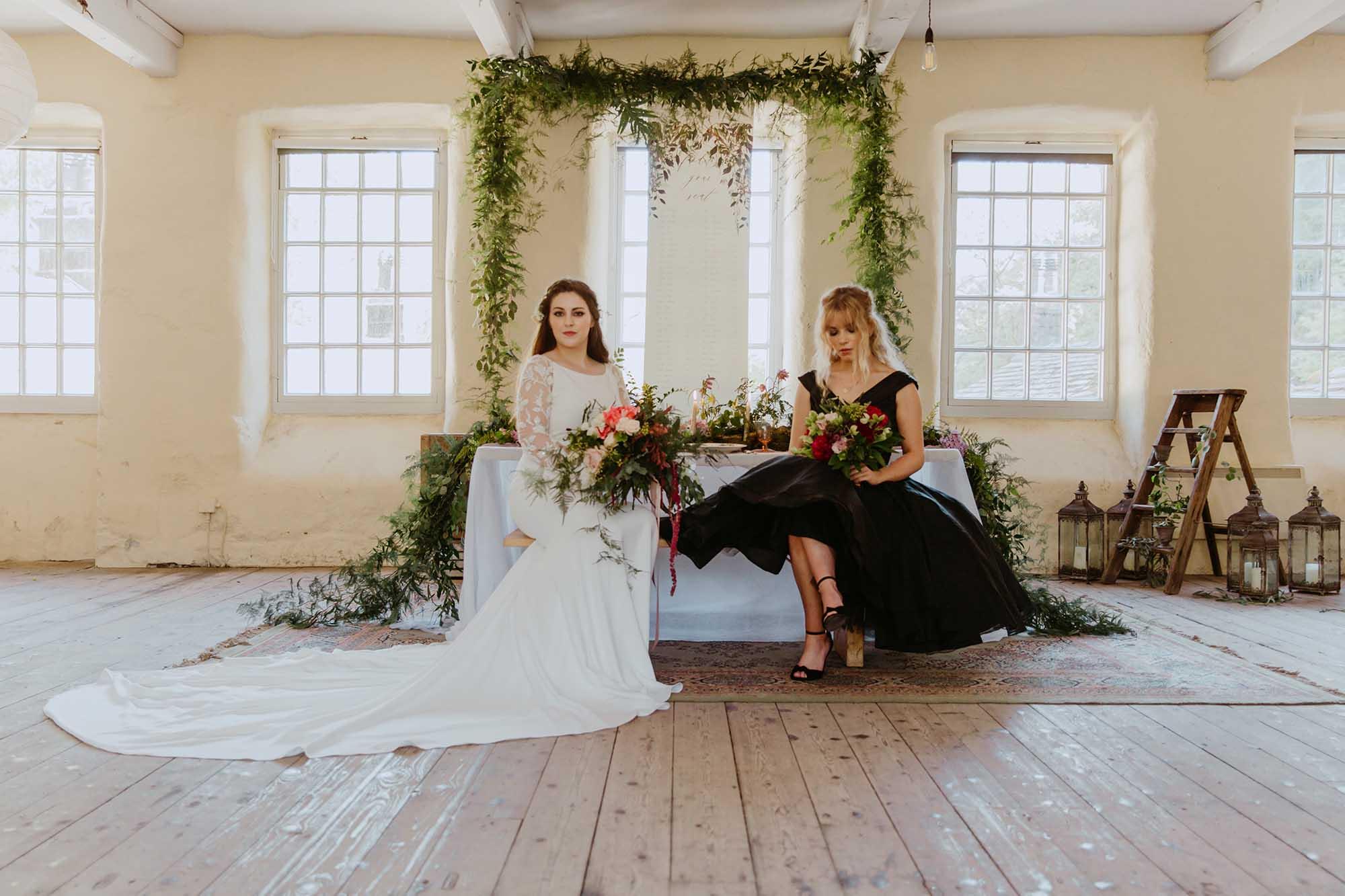 Black wedding dress ideas