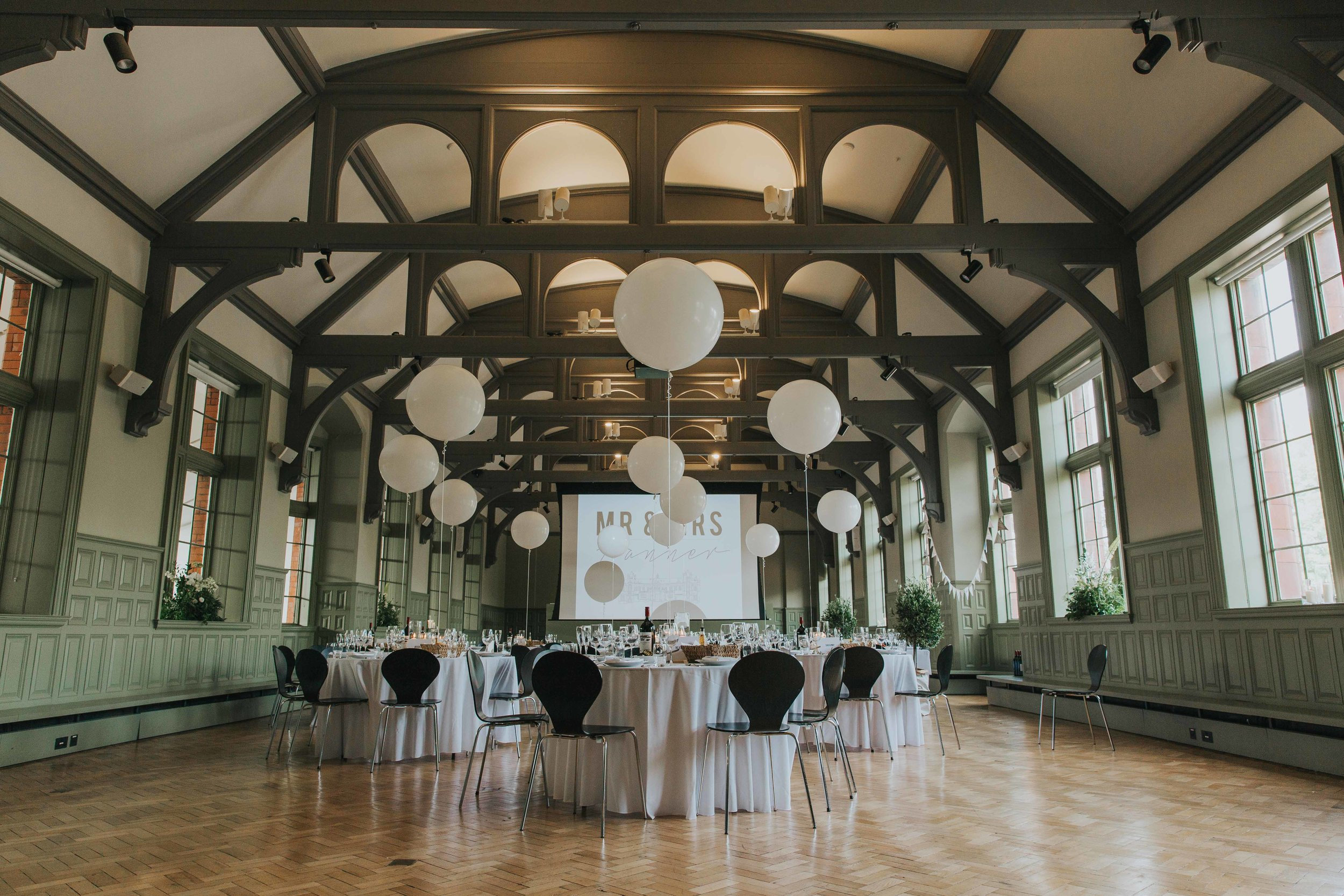 The Whitworth Art Gallery Manchester wedding reception room