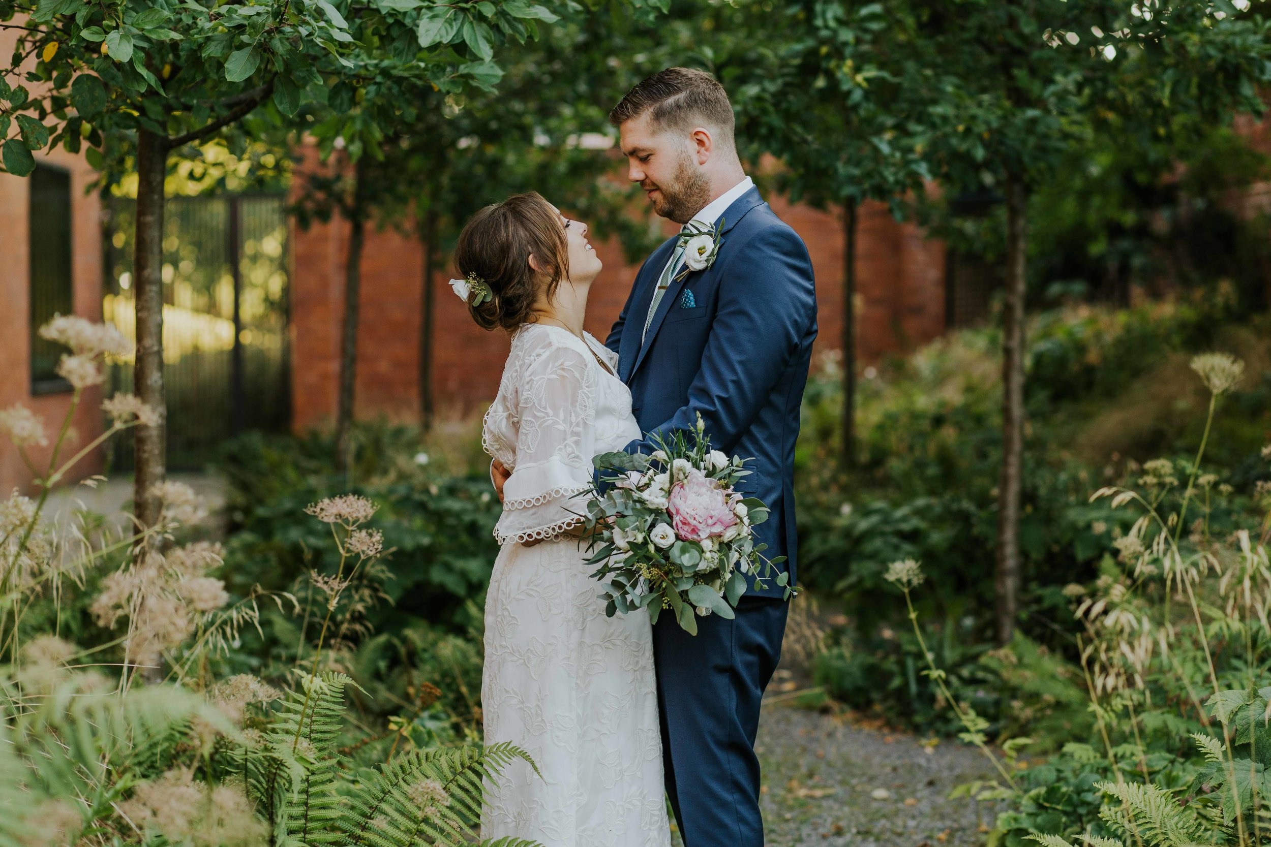 relaxed wedding photographers in Manchester