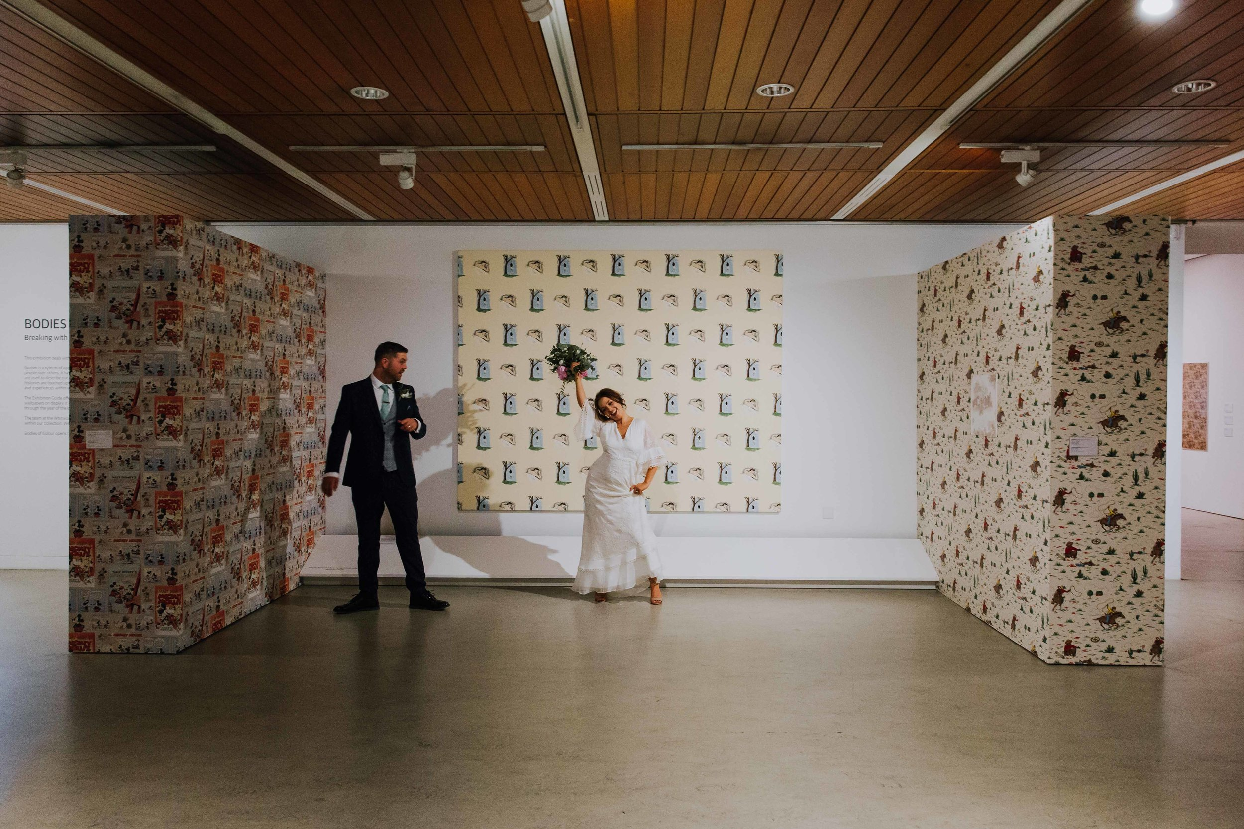 art gallery wedding