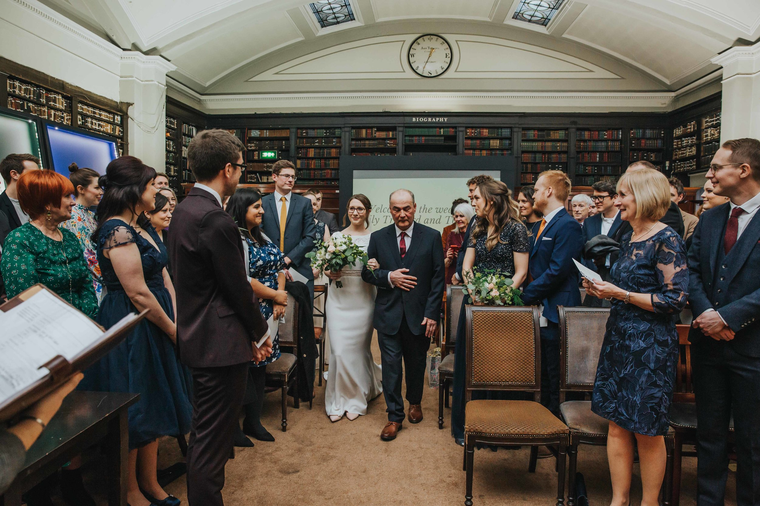 The Portico Library Manchester wedding ceremony