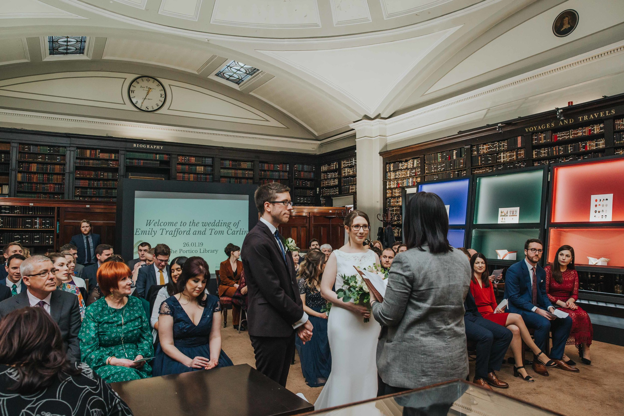 Wedding ceremony at The Portico Library
