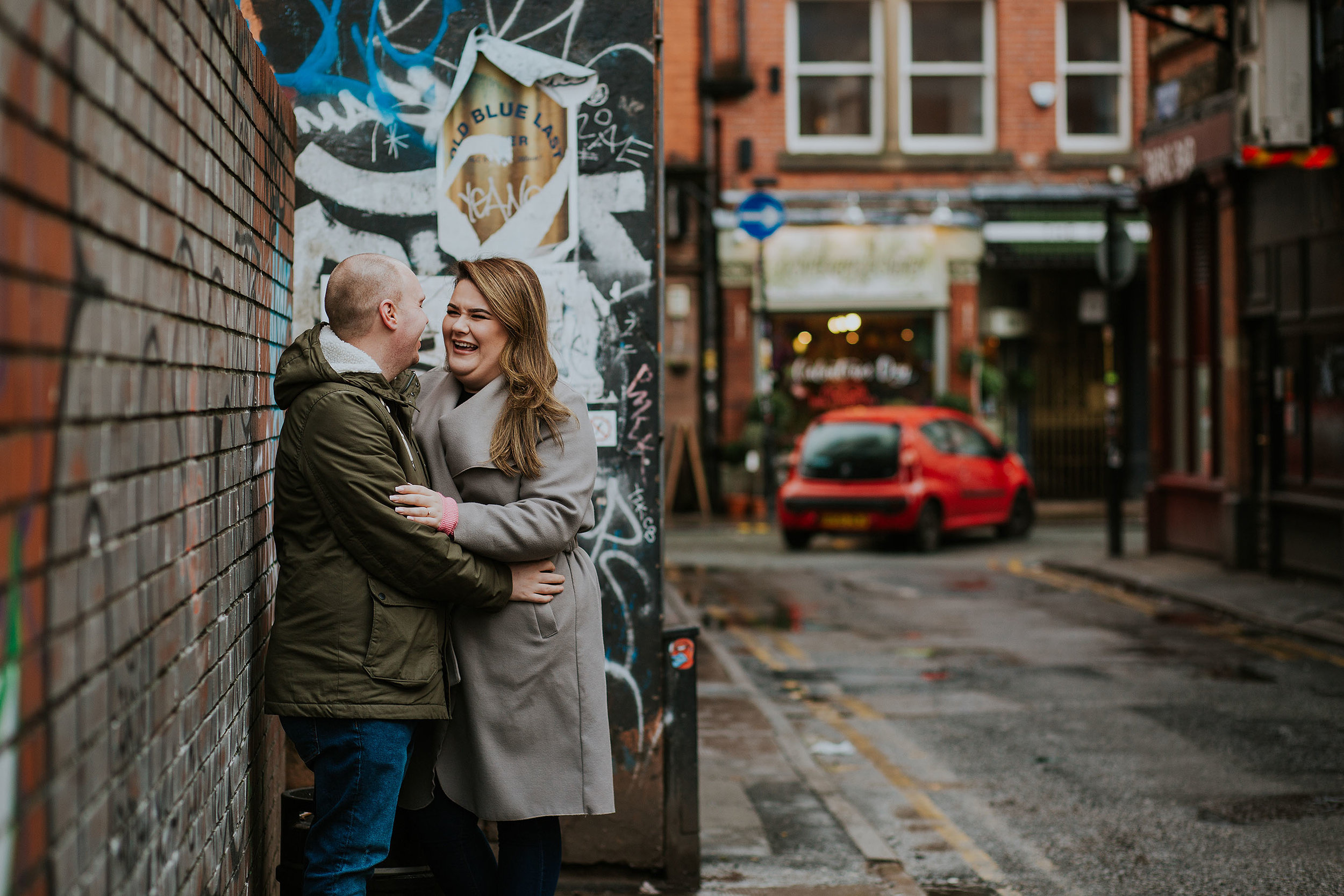 Northern Quarter engagement photography Manchester