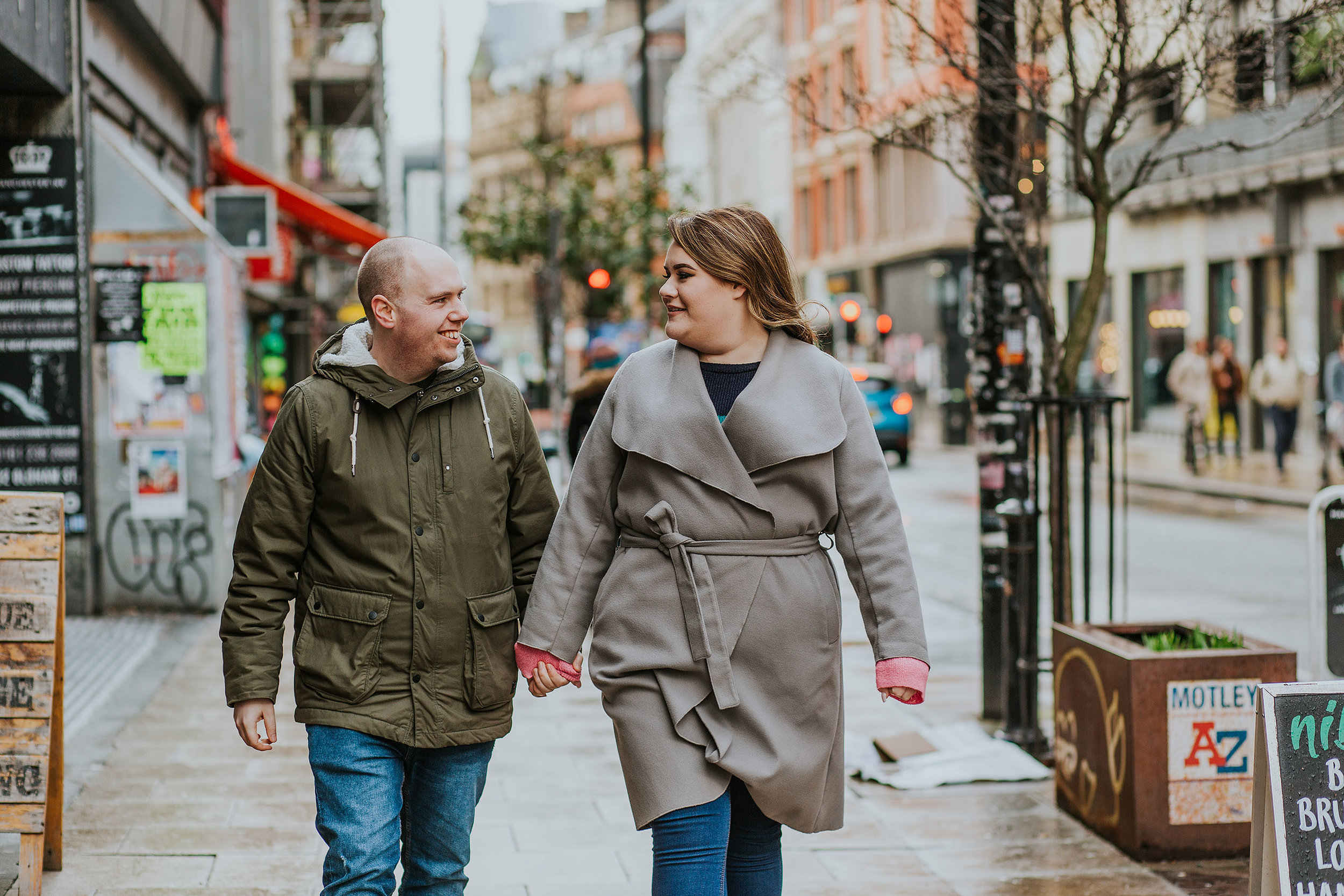 Northern Quarter engagement session in Manchester