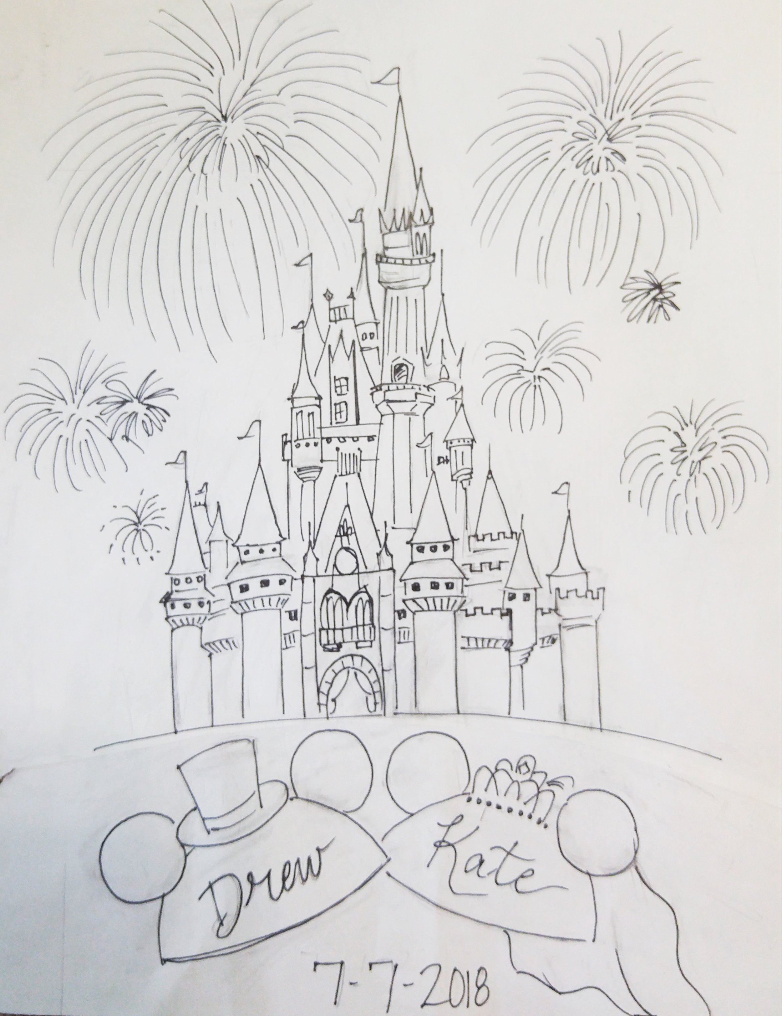 disney wedding guest book