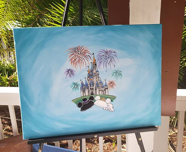 Promise to get this one listed soon! The perfect guest book alternative if you're getting hitched at Disney World (or if it just holds a special place in your heart.) I'll hand paint a canvas just for you with your names on those Mickey hats, then all of your guests will sign it, turning it into a meaningful piece of art from your #wedding day! . . . . #guestbookalternative #guestbook #weddingplanning #weddingguestbook #disneywedding #disneyweddings #floridawedding #orlandoweddings #mickeyears #mickeyandminnie #shareyourears #cinderellacastle #onceuponatime #justengaged #mrandmrs #handpainted #meaningful #sentimental #magicalmakers #weddingdetails #weddinggift #fairytalewedding