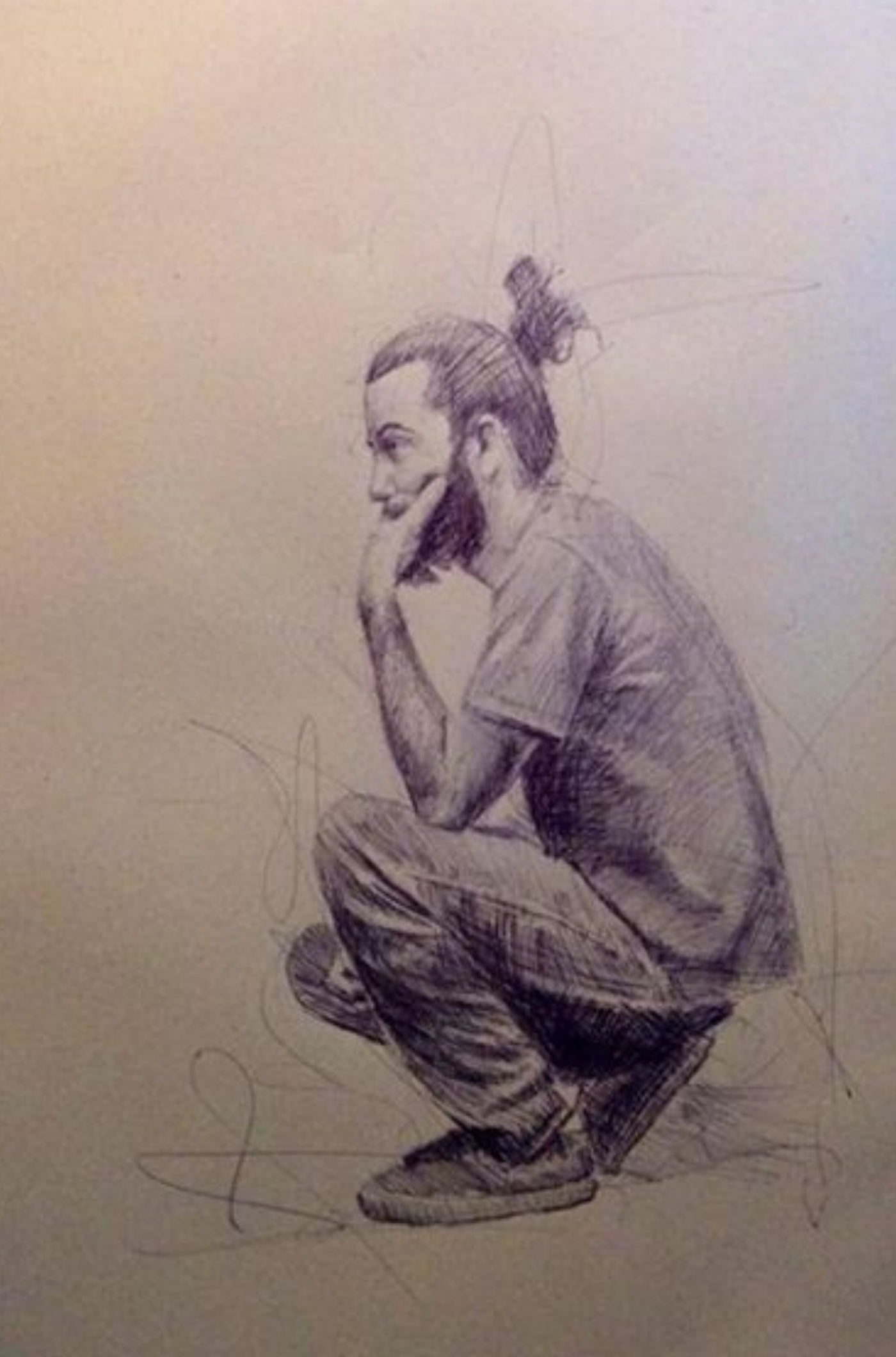 Drawing by Eric Brennan (unbeknowst to Garick Tai-Lee during crits)