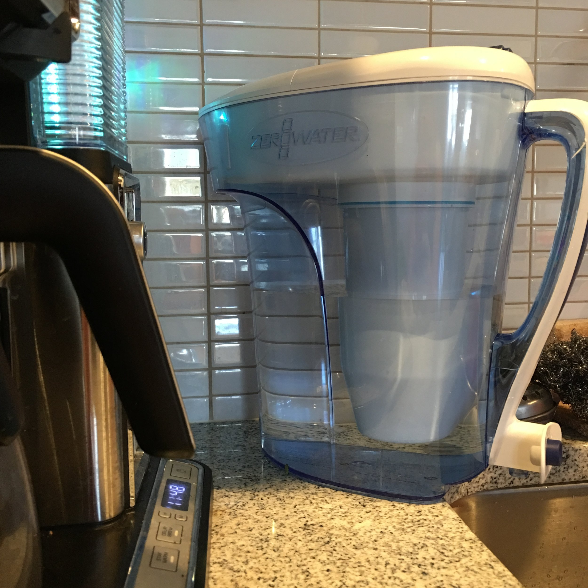 Hydration! - There's a spigot at the bottom of the handle on this pitcher!