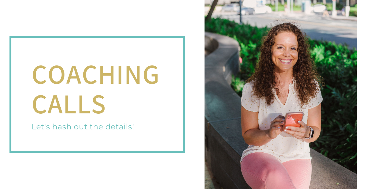 Starting at $45  30-minute consultation  Multiple sessions can be booked at once for longer calls  Not sure if you're ready for an on-going coach, or want a quick call about an idea or project you have? This is for you!