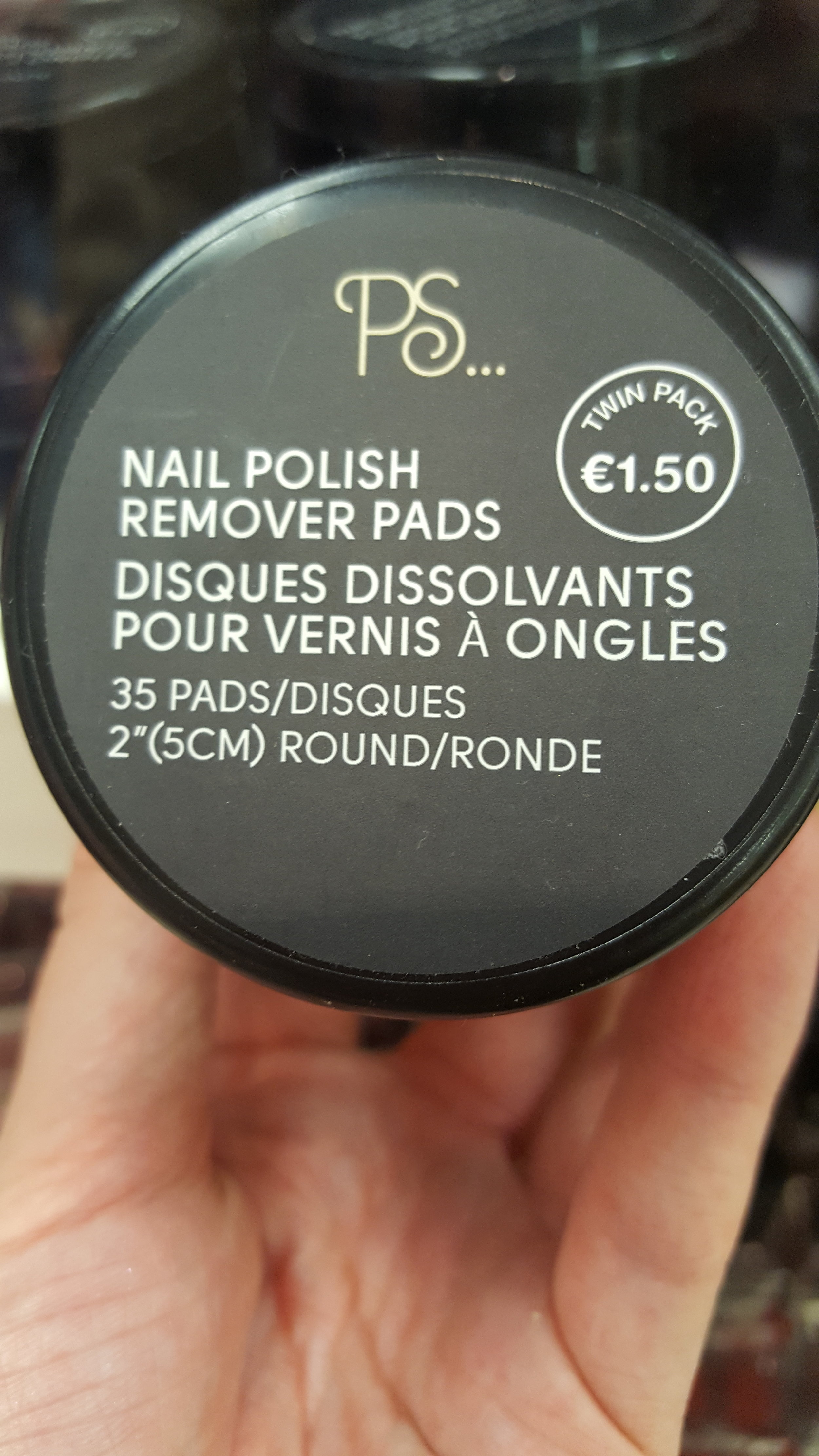 Twin pack of nail polish remover pads. Handy to pop into your handbag or have on your nightstand for those of us who are lazy about removing chipped polish.(Guilty)