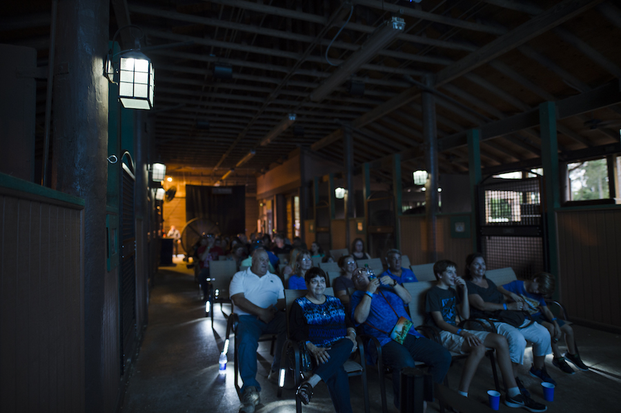 movie seating inside the barn | © dISNEY