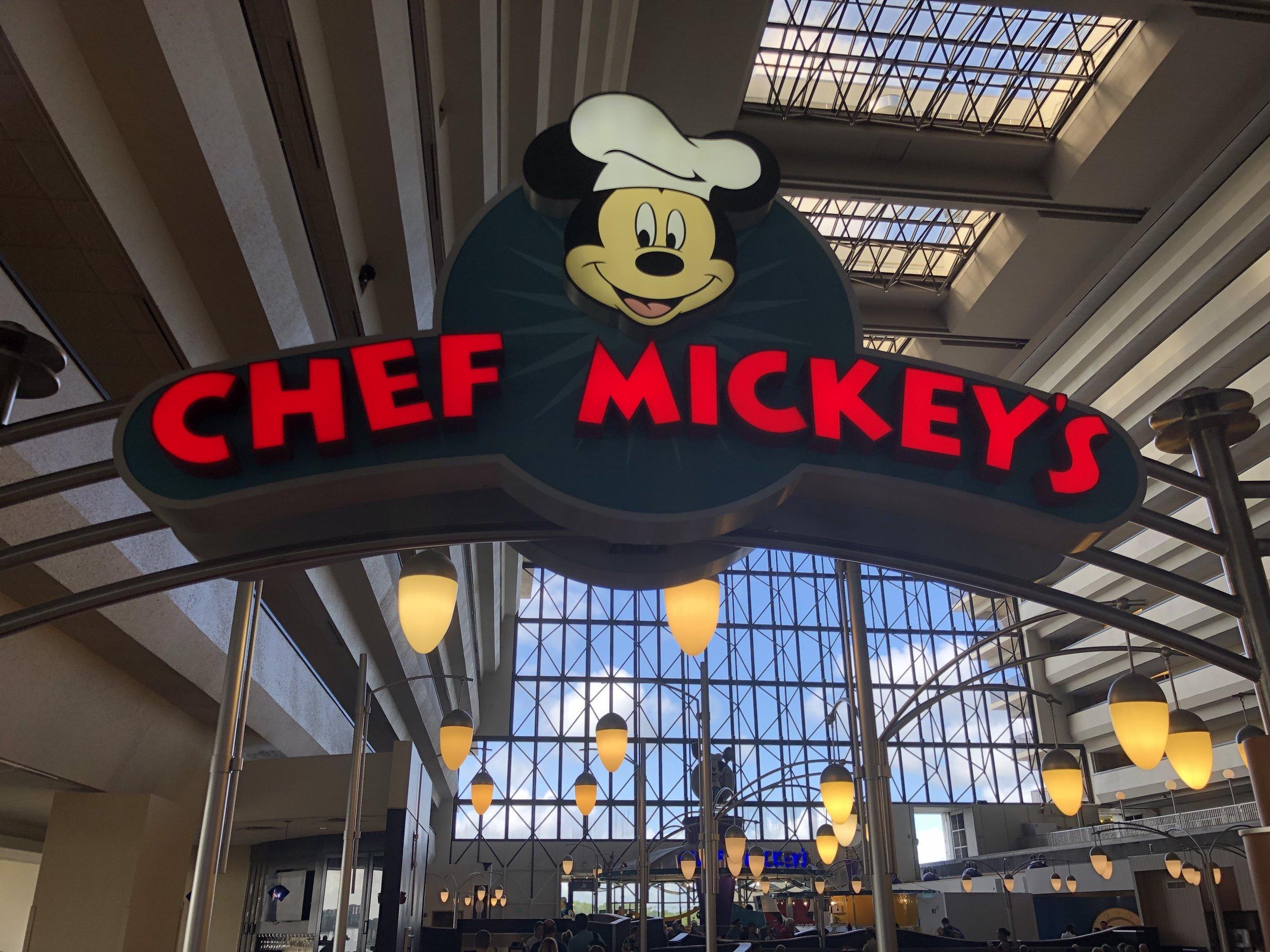chef mickey's entrance - disney's contemporary resort