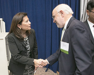 Tani Cantil-Sakauye, Chief Justice of the California Supreme Court and Mr. Miller.