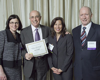 Katherine Feinstein, Judge of the San Francisco Superior Court, Mr. Miller, Tani Cantil-Sakauye, Chief Justice of the California Supreme Court, and Patrick Mahoney, Judge of the San Francisco Superior Court.