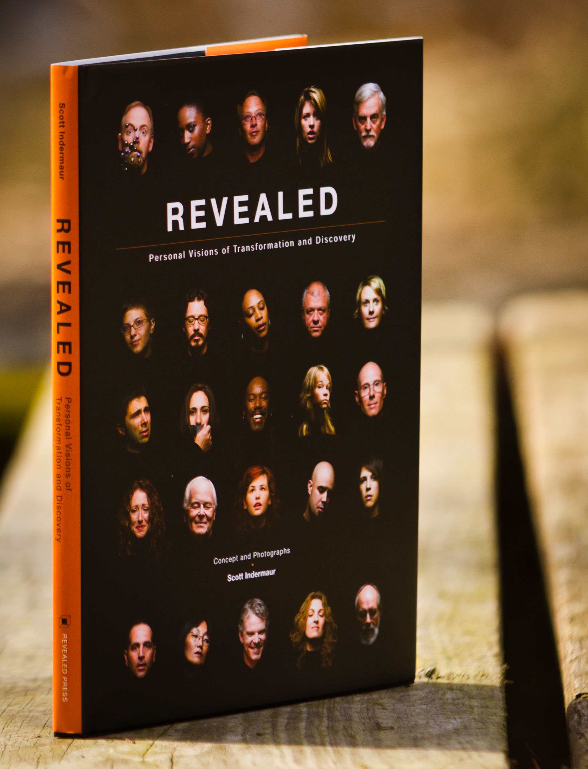 "- REVEALED: Personal Visions of Transformation and DiscoveryREVEALED is an exploration of self - a glimpse into the spiritual expressions and personal beliefs of the participants. Using individual portraits and short personal essays, Scott Indermaur has created a one-of-a-kind photographic series that uncovers what lies beneath the surface in each of us.In giving its subjects the time to reflect and connect with their ""selves', The REVEALED Project demonstrates both our singular uniqueness and the common thread we share with one another. The result is the intention of expression as revealed in a wooden box."