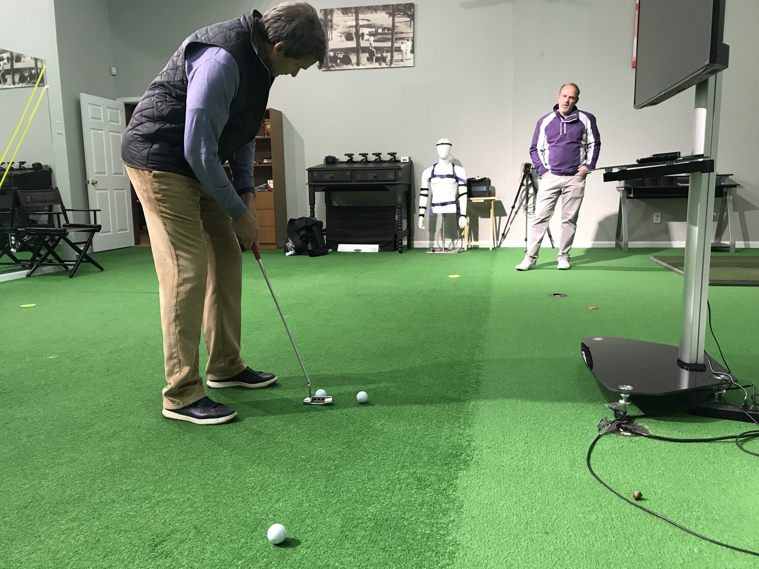 The number one takeaway from my session with Orr was to take a longer, more relaxed and unhurried backswing on every putt.