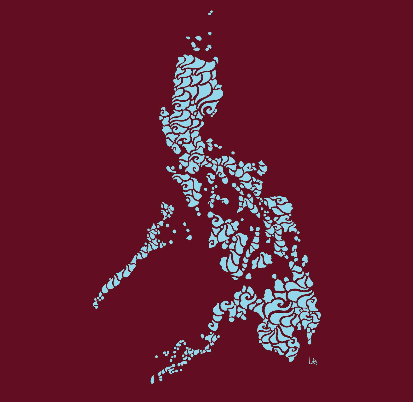 Swirly Philippines Print