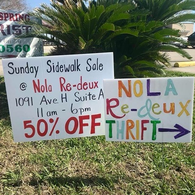 Sunday Sidewalk Sale! Everything outside 50% off and everything inside 10% off. Come stop by and shop!