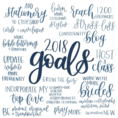 2018 Goals | Check out my Instagram page for the process video of creating this digital print.