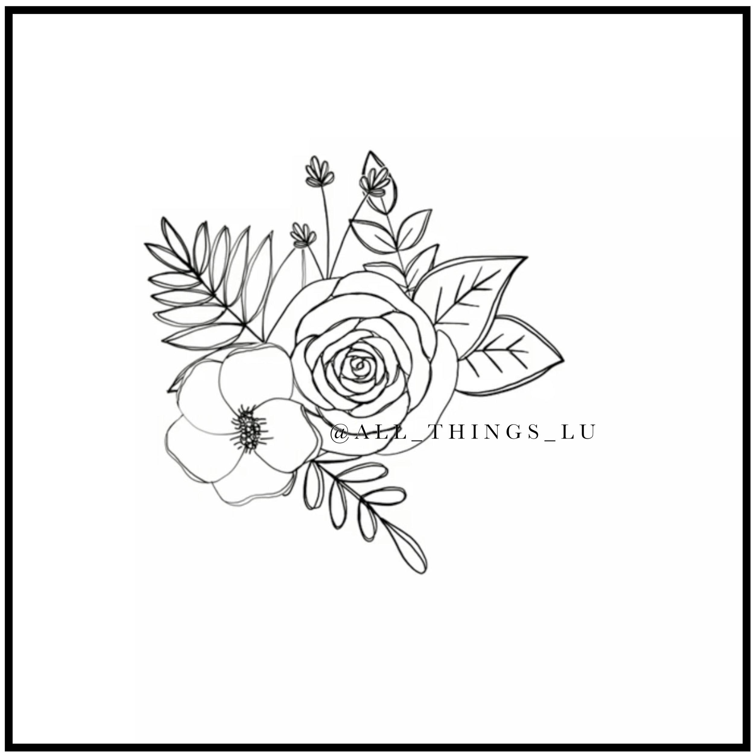step 2 : arrange flowers and leaves