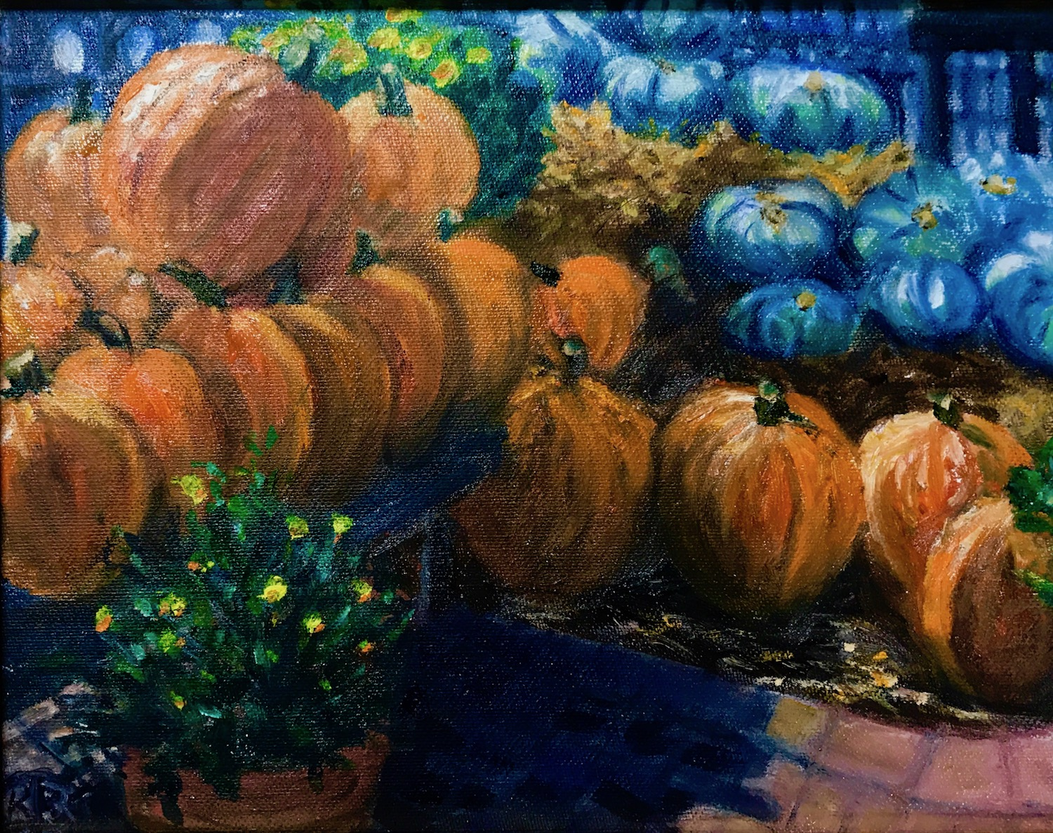 Orange & Blue Pumpkins