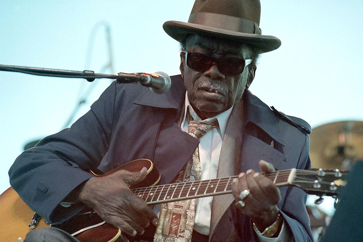 John Lee Hooker, Chesapeake Bay Blues Festival, Annapolis, MD., 1999