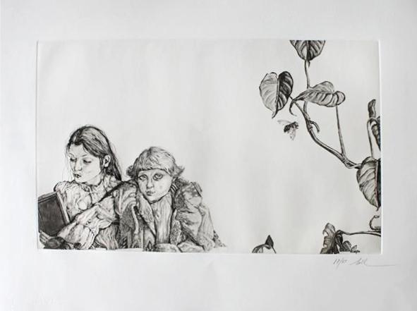 ''Alice & her Sister%22 Metamorphosis I, Nall 1977, etching .jpg