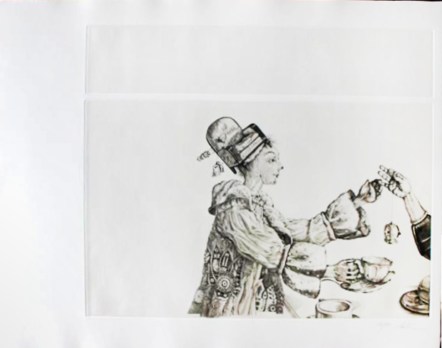 ''Tea Party metamorphosis II, Nall 1977 etching.jpg