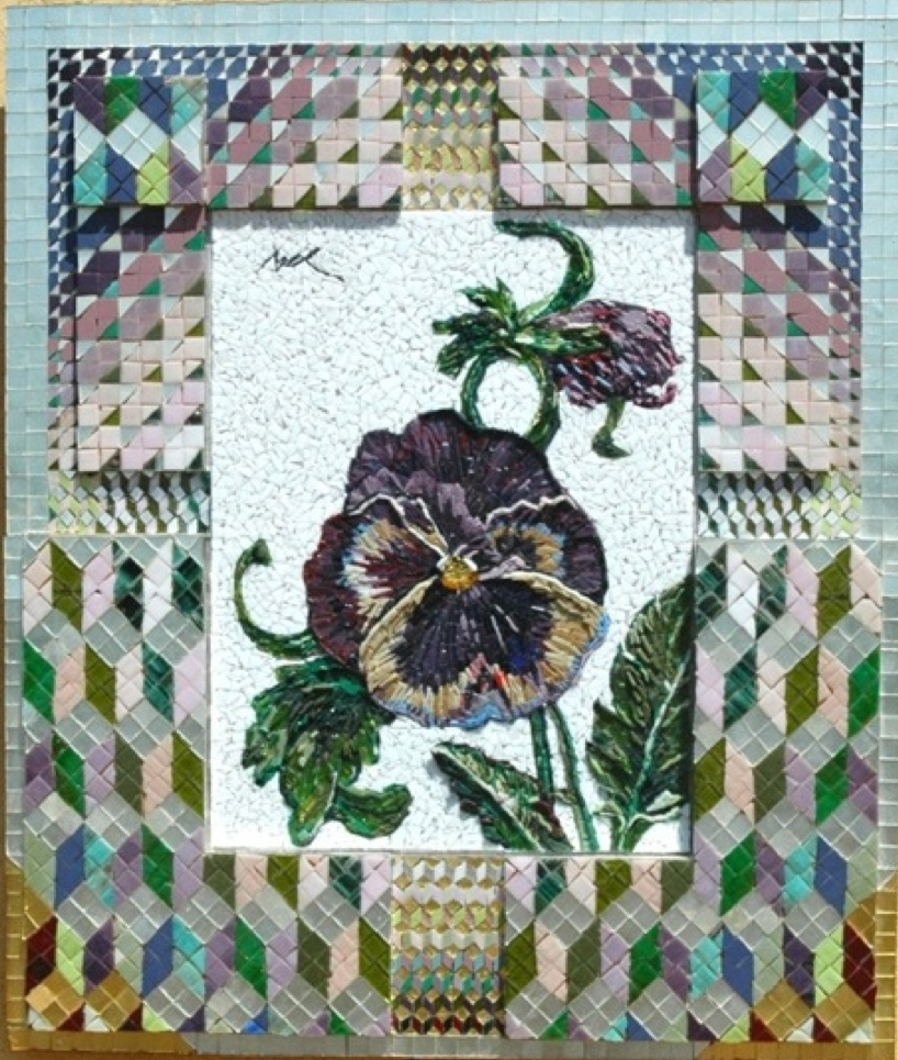 'Blue & Purple Pansy' - Mosaic -