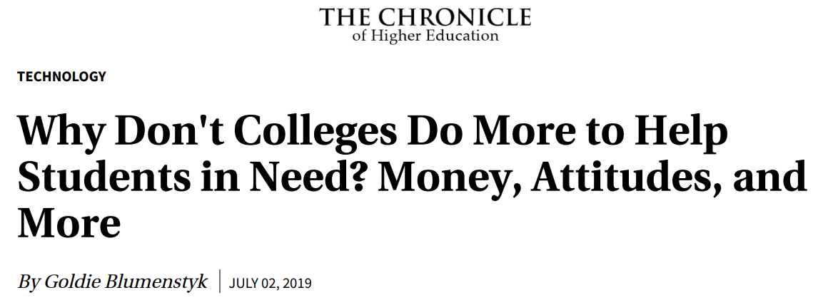 -THE CHRONICLE OF HIGHER EDUCATION // JULY 2, 2019