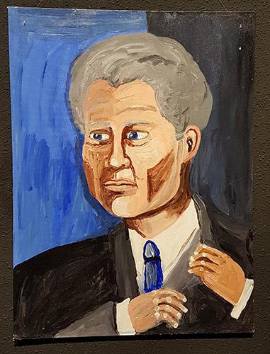 """President Clinton"". Jane Doyle."