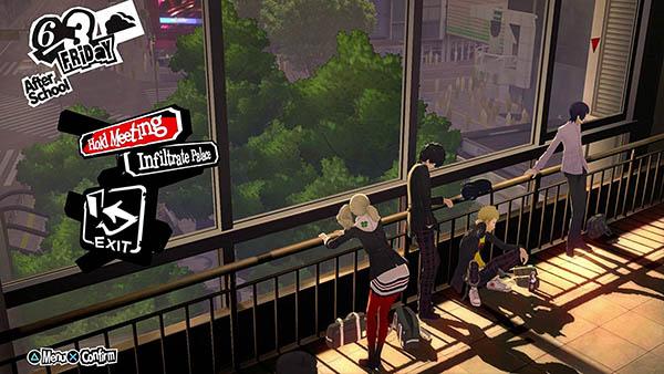 Persona 5's hangout at Shibuya Station.  Image Copyright: Atlus.
