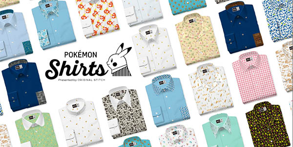 Original Stitch have released a Pokemon Shirt Collection on their website. Source: https://www.pokemon.co.jp/ex/shirts/