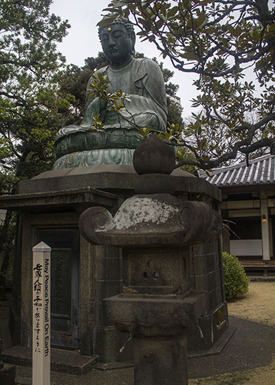 The Buddha in Tennoji Temple is of great cultural significance in the Shinto religion. Image source: Author's Own Image