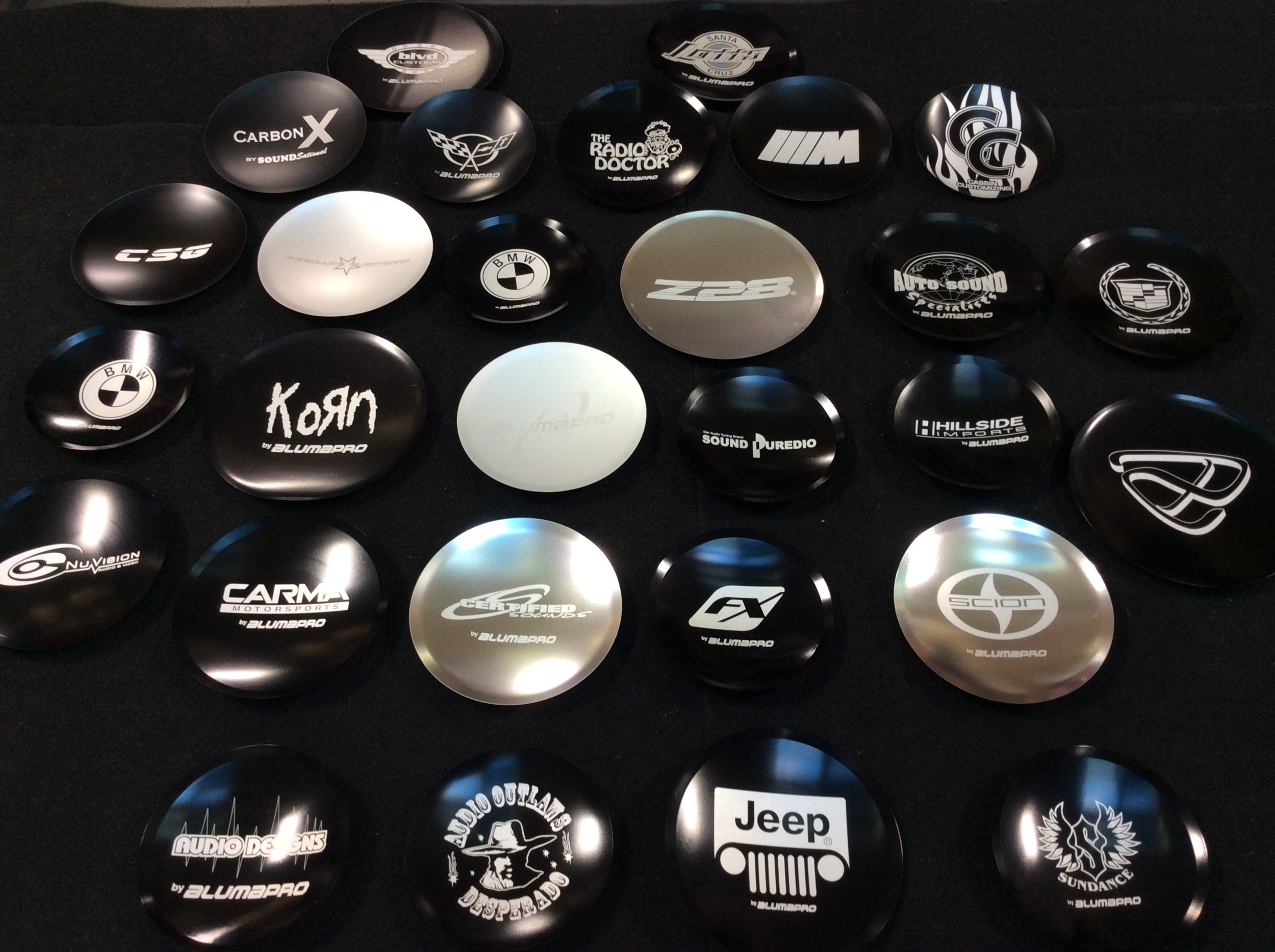 Custom Dustcaps - · Anodized Dustcaps· Fully Customizable· Laser Etched· Built to Last· Excellent Brand Exposure!