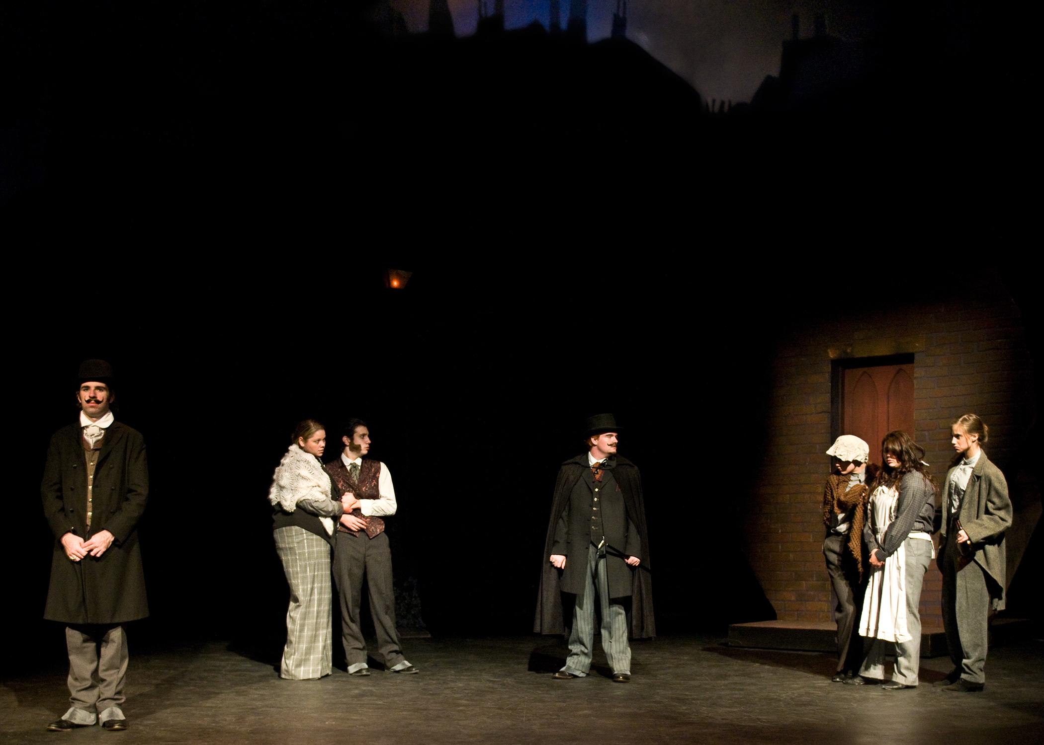 Jekyll and Hyde exterior scene.