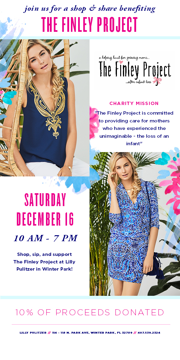Shop, Sip and Support The Finley Project at Lily Pulitzer in Winter Park.jpg
