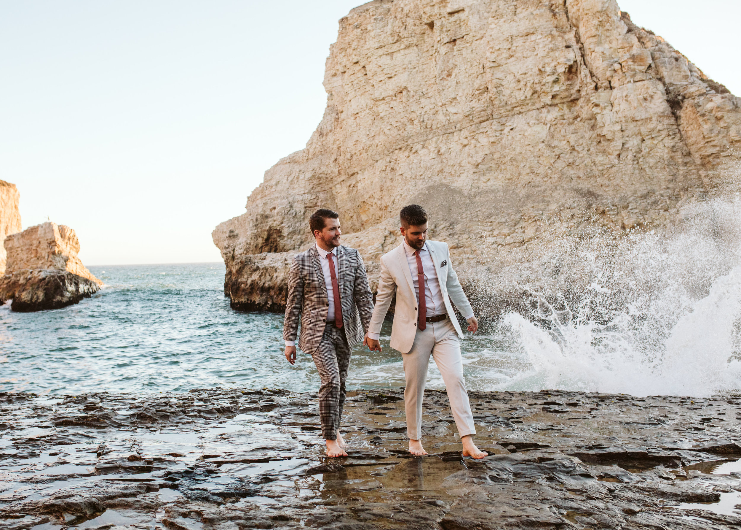 DEREK & JASON - The California Cliffside Wedding // Sharkfin Cove - Davenport, California