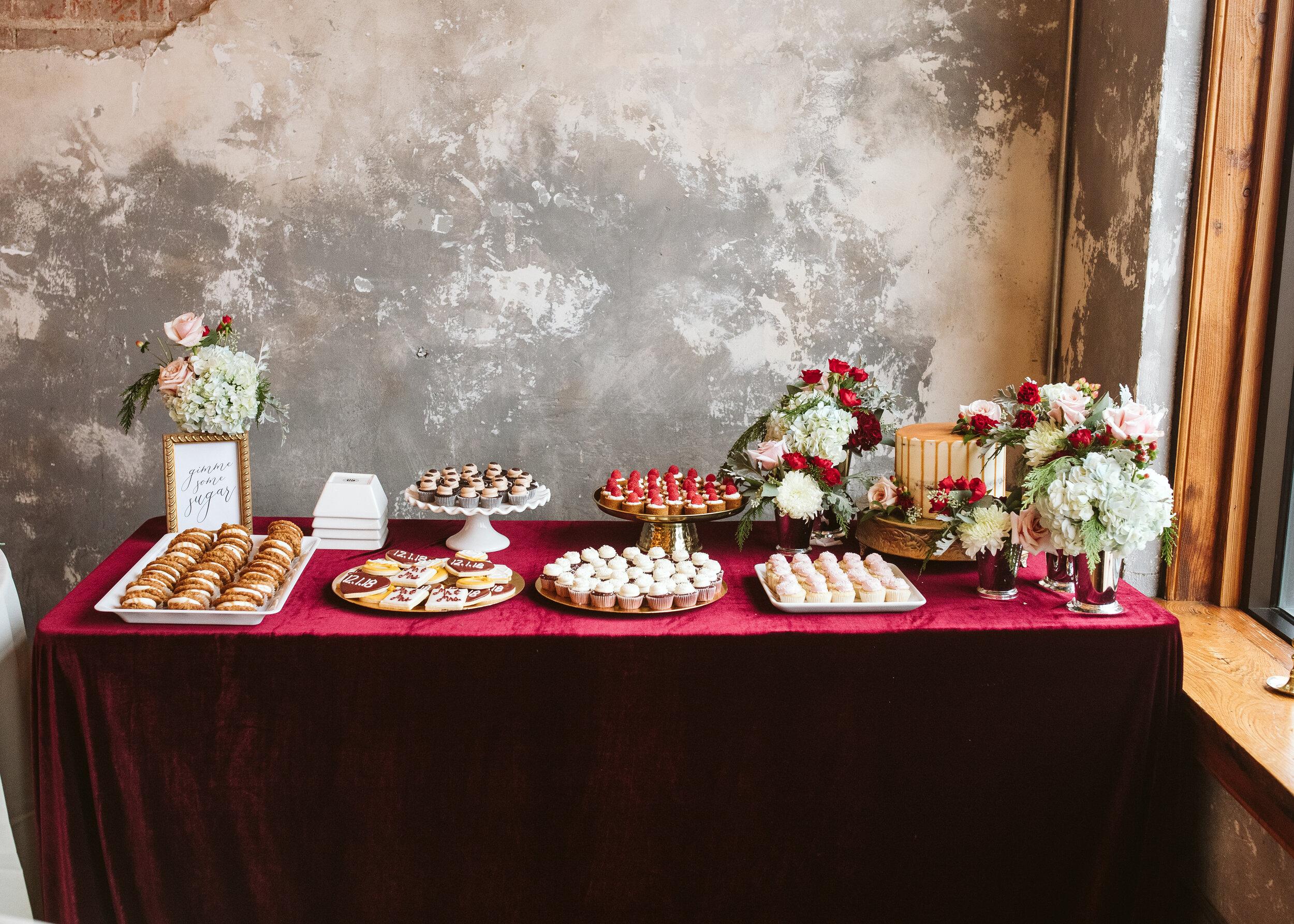 Desserts - Sweet SoireeBlue Thistle CakesAdorn CakesMcLain's BakeryDolce Bakery