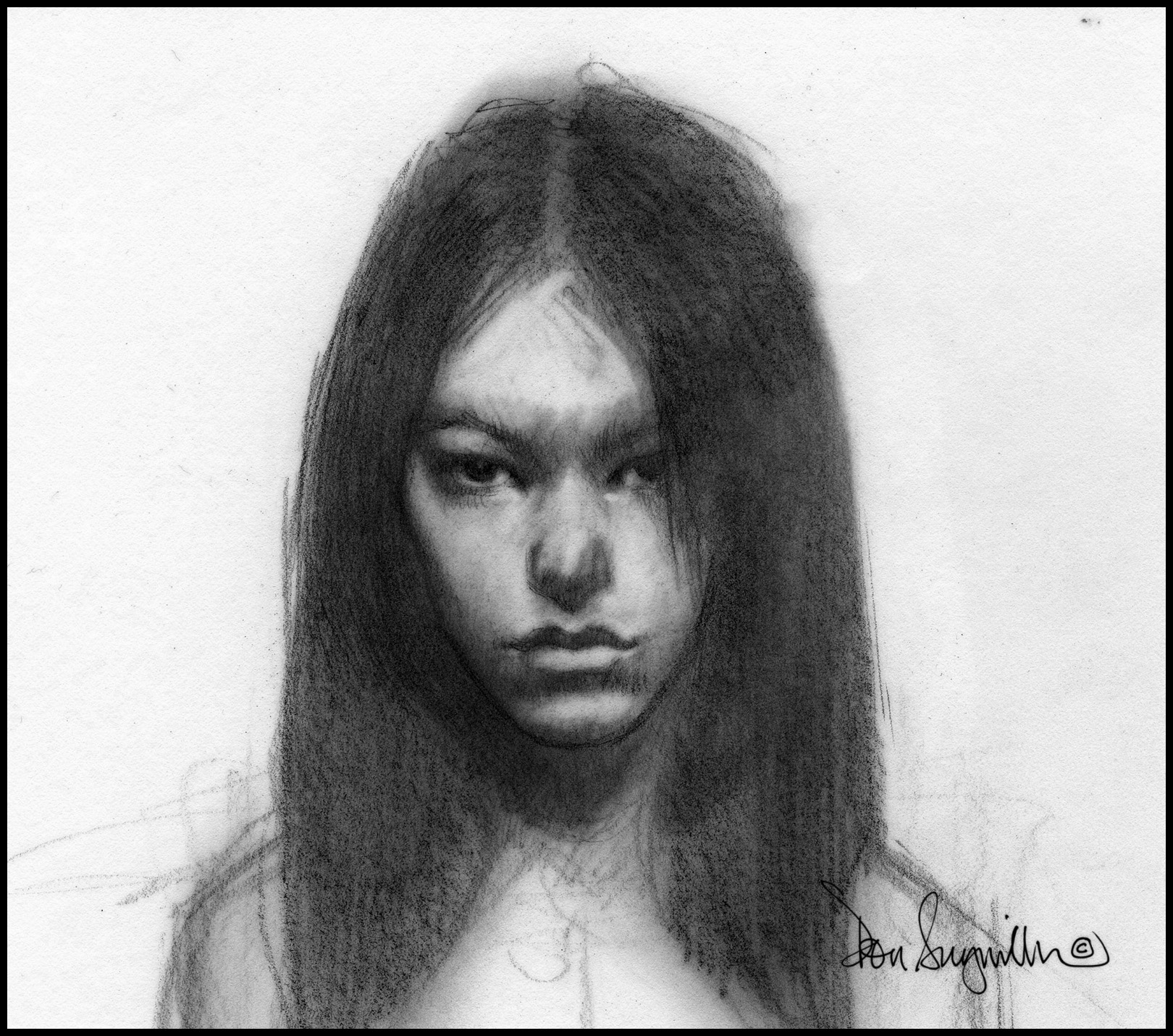 """20. """"Sketch of a Girl"""" This is a drawing from one of my sketchbooks. Medium: Graphite. Scale/Resolution: 6"""" x 6"""". Year Created: 2016"""
