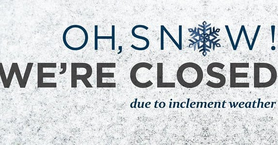 For the safety of our patients and our staff the office is closing today, 01/29/19 at 1:00pm and will be CLOSED Wednesday, 01/30/19.