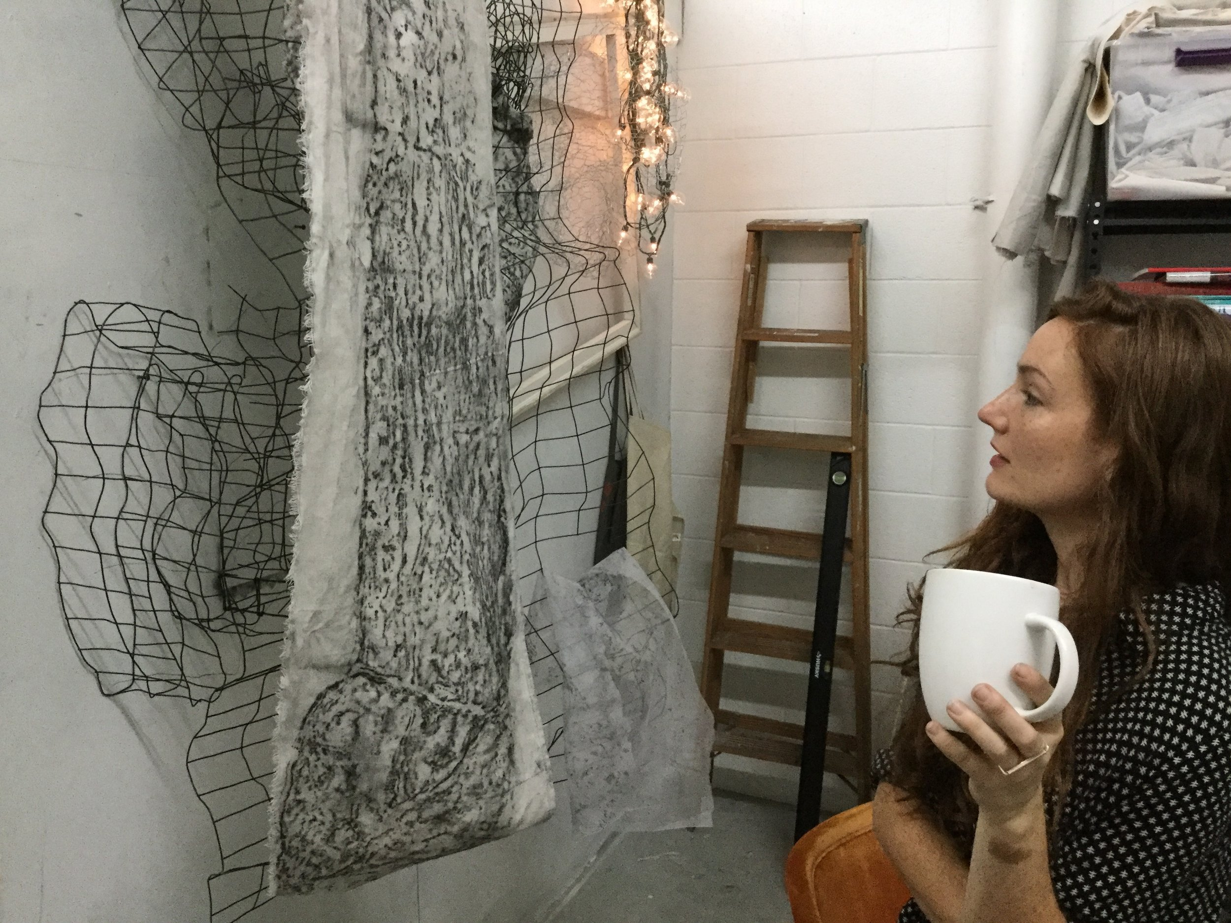 Studio Conversation with Painter Erin Murphy - Jonathan Lisenby sits down with Nashville-based artist Erin Murphy in her studio at Ground Floor Gallery + Studios. They talk about growing up in a creativity-quashing environment, rubbing gravestones, and becoming Xena: Warrior Princess, among other things.