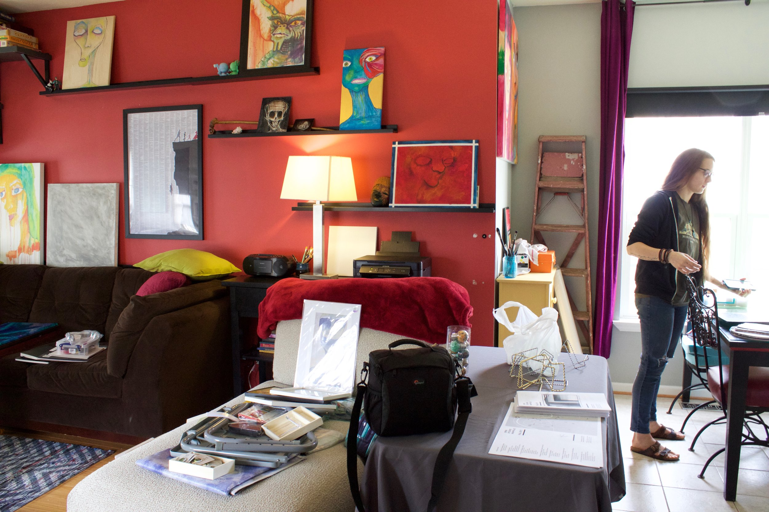 Meg Marano's studio in North Nashville