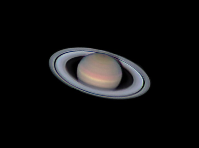 Saturn, as imaged by Columbus Astronomical Society Member  Joe Renzetti  on August 8, 2017.