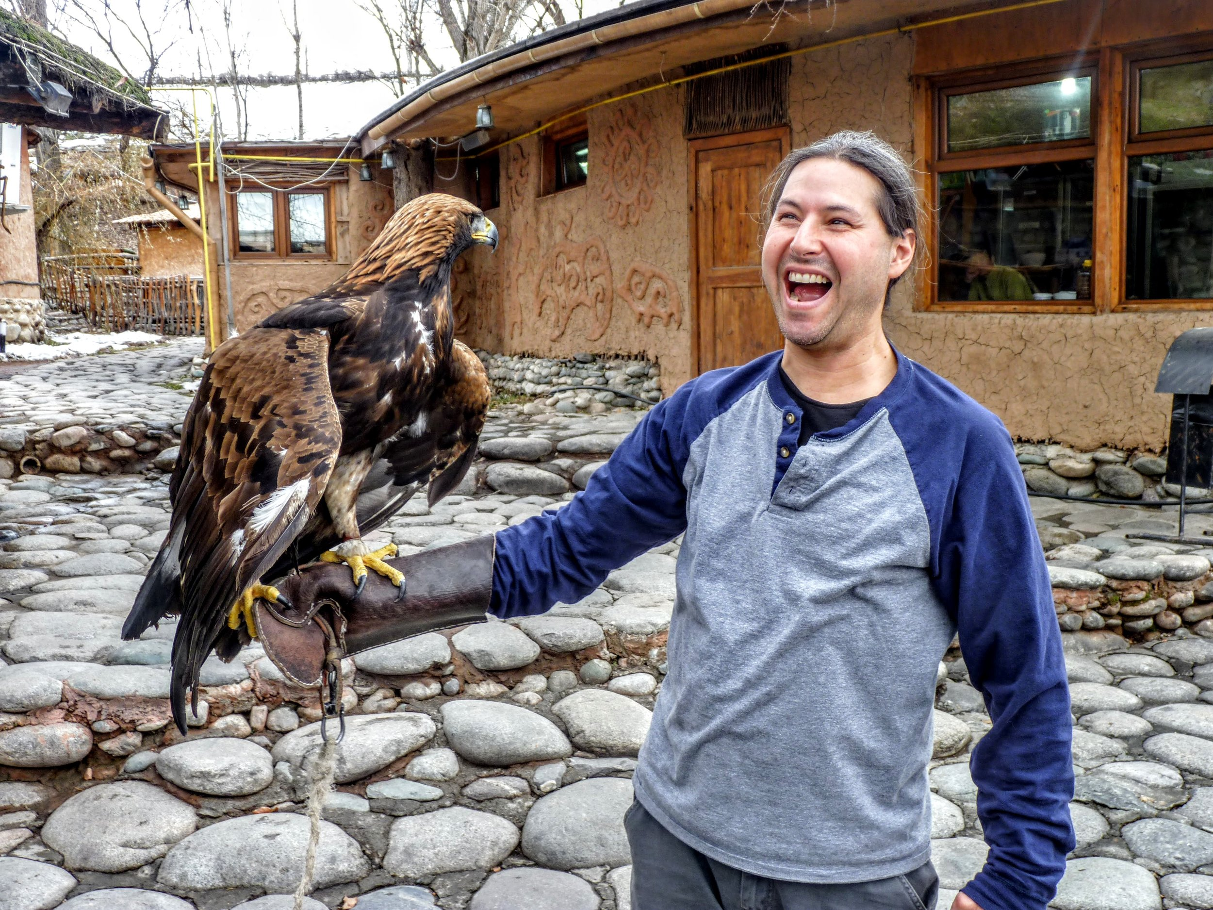 Jon's new feathered friend.