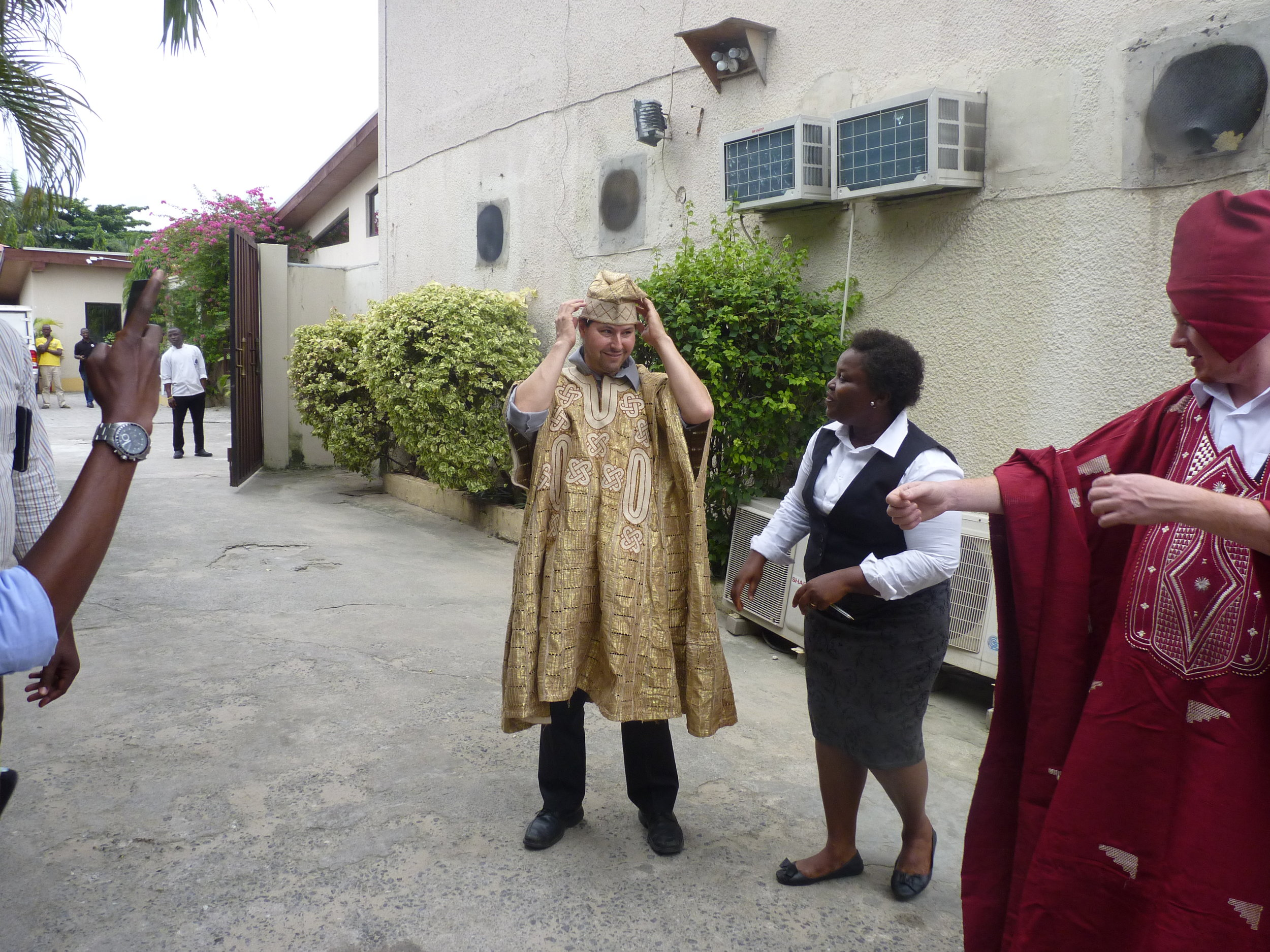As ever, we get to try on traditional clothing on almost every trip.