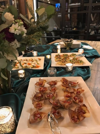 Tuna Wonton Cups and other Hors D'oeuvres at Shift Workspace