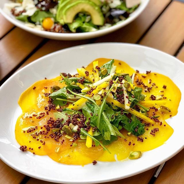It's easy to see why our Golden Beet Carpaccio is a guest favorite 😍 Enjoy special pricing on this + more of our favorite snacks and sips during #happyhour every weekday from 3-6pm! Link in bio to view the menu. #meetmeatcaroline    📸: @atxfitfoodie