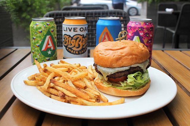As Texas summer heats up, we're keeping the cold beer flowing 🍺 Starting today, enjoy $1 canned beers when you order our famous Prime Cheeseburger or Turkey Burger every Wednesday all summer long! 🍔 #meetmeatcaroline *Limit 3 beers per person