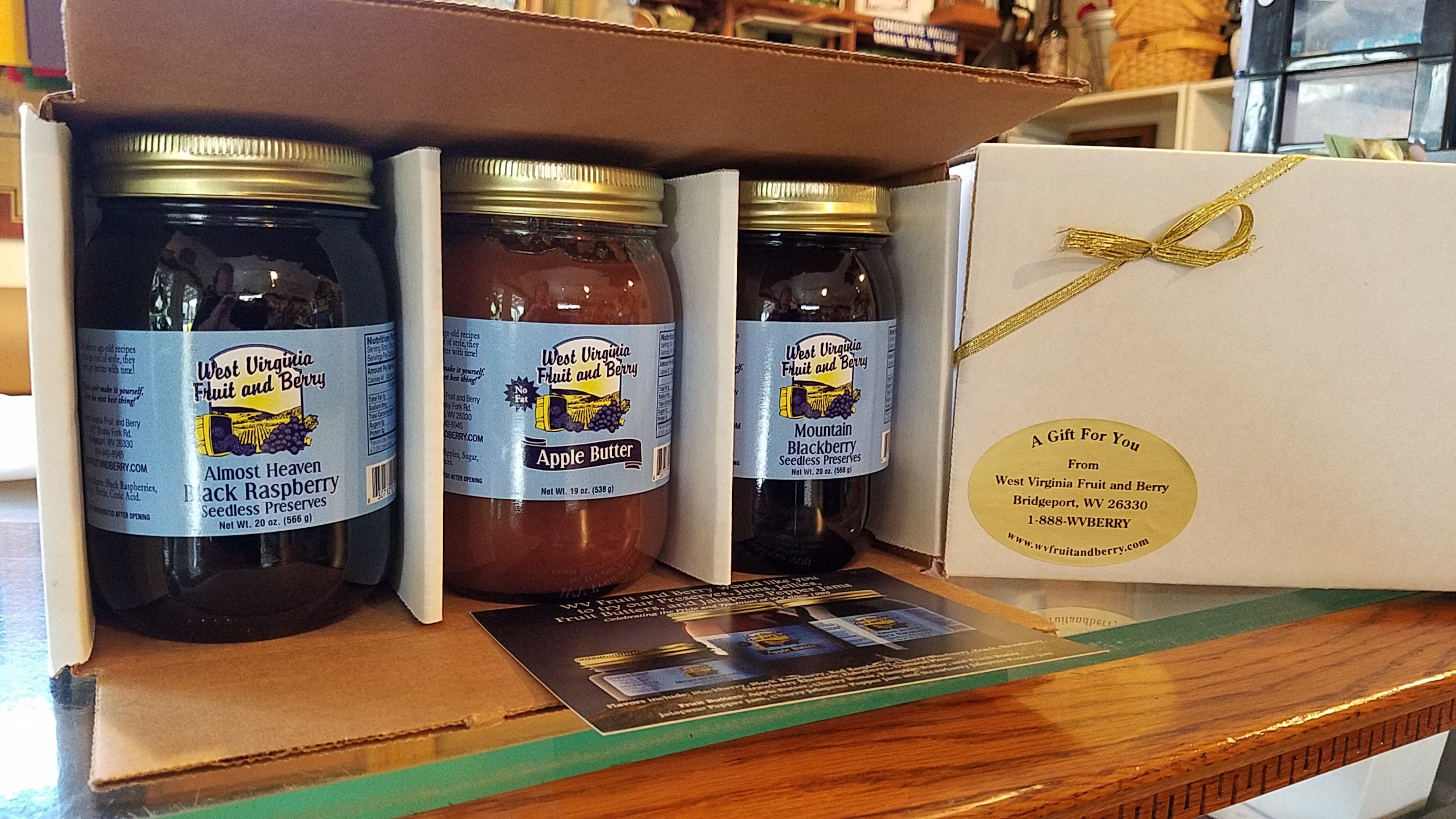 All orders shipped in 3-packs - May mix and match- up to 3 gift packs per order. Need over 9 jars? Call us to find your best shipping option! (304-842-8945)